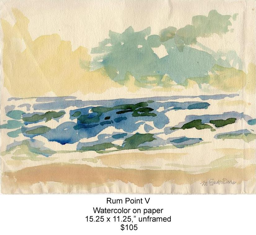 Fred Wise, Rum Point V. Watercolor, 15.25 x 1.25, 2013, web.jpg