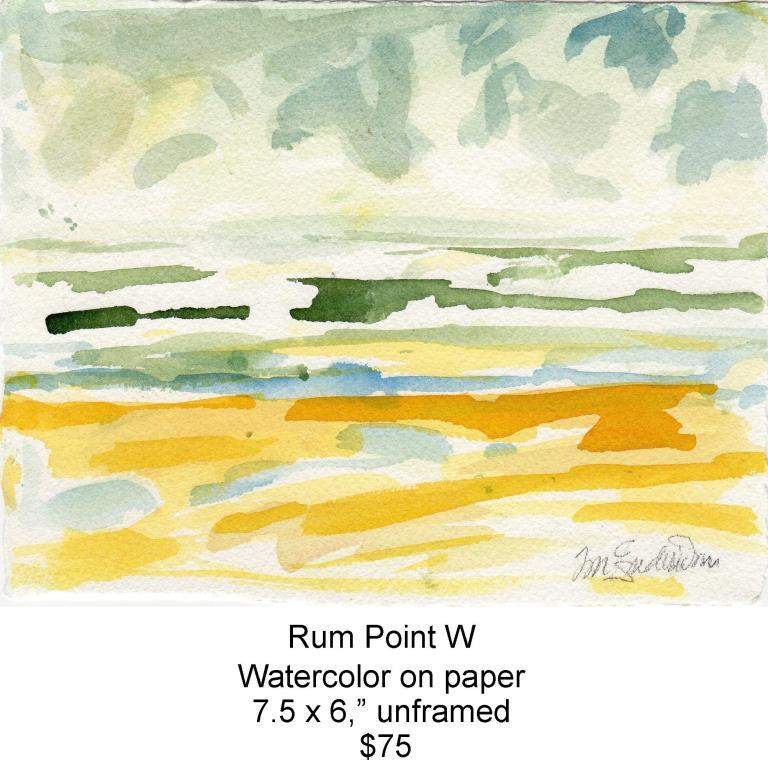 Fred Wise, Rum Point W. Watercolor, 7.5 x 6, 2013, web.jpg