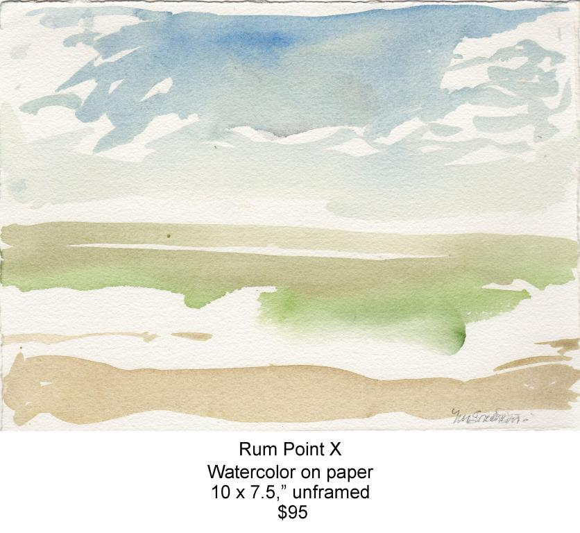 Fred Wise, Rum Point X. Watercolor, 10 x 7.5, 2013, web.jpg