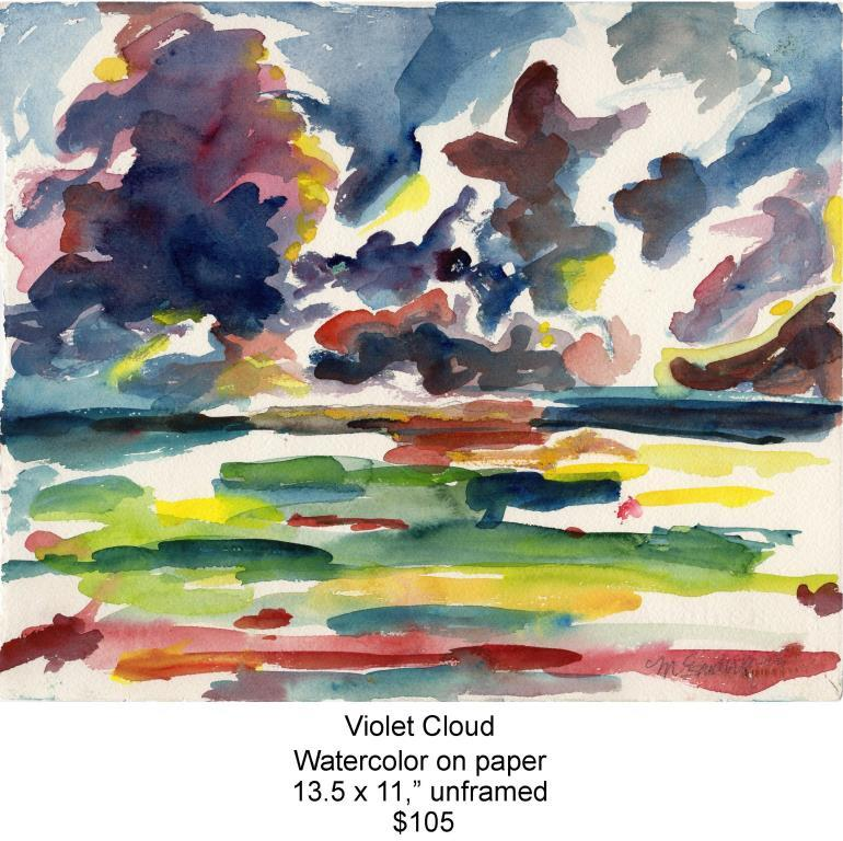 Fred Wise, Violet Cloud. Watercolor, 13.5 x 11, 2009, web.jpg