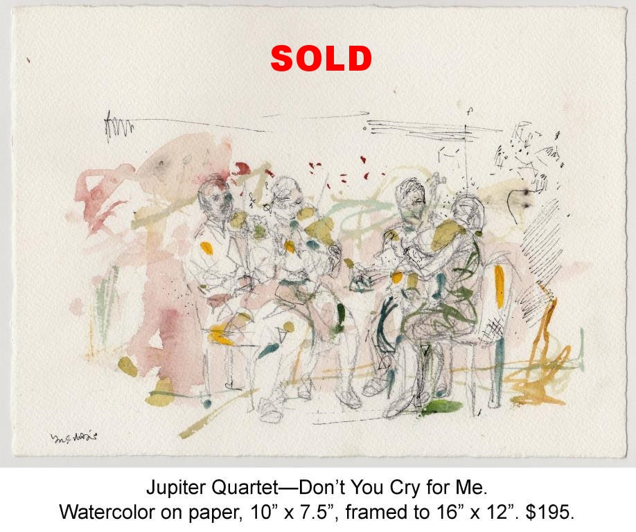 Fred Wise, Jupiter Quartet, Dont You Cry for Me. Watercolor, pen, pencil on paper, 10 x 7.5, 2012.jpg