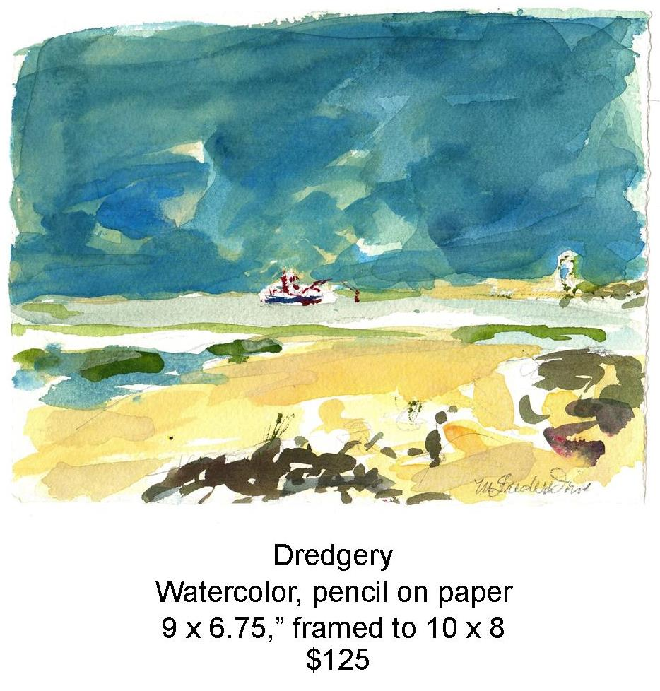 Fred Wise, Dredgery, watercolor and pencil on paper, 9 in x 6.75 in, 2009, web.jpg