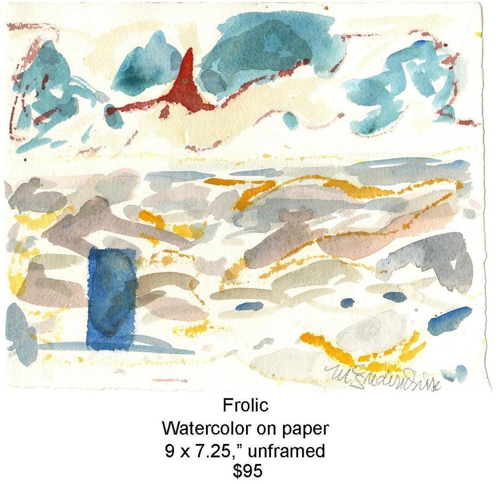Fred Wise, Frolic. Watercolor, 9 x 7.25, 2013, web.jpg