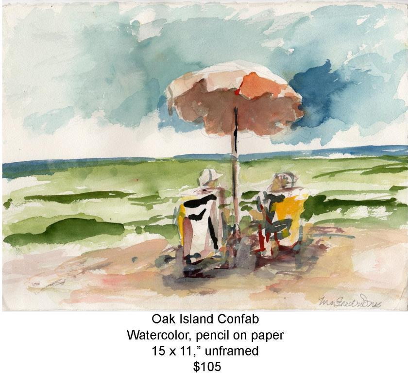 Fred Wise, Oak Island Confab, watercolor and pencil on paper 15 in x 11 in 2007, web.jpg