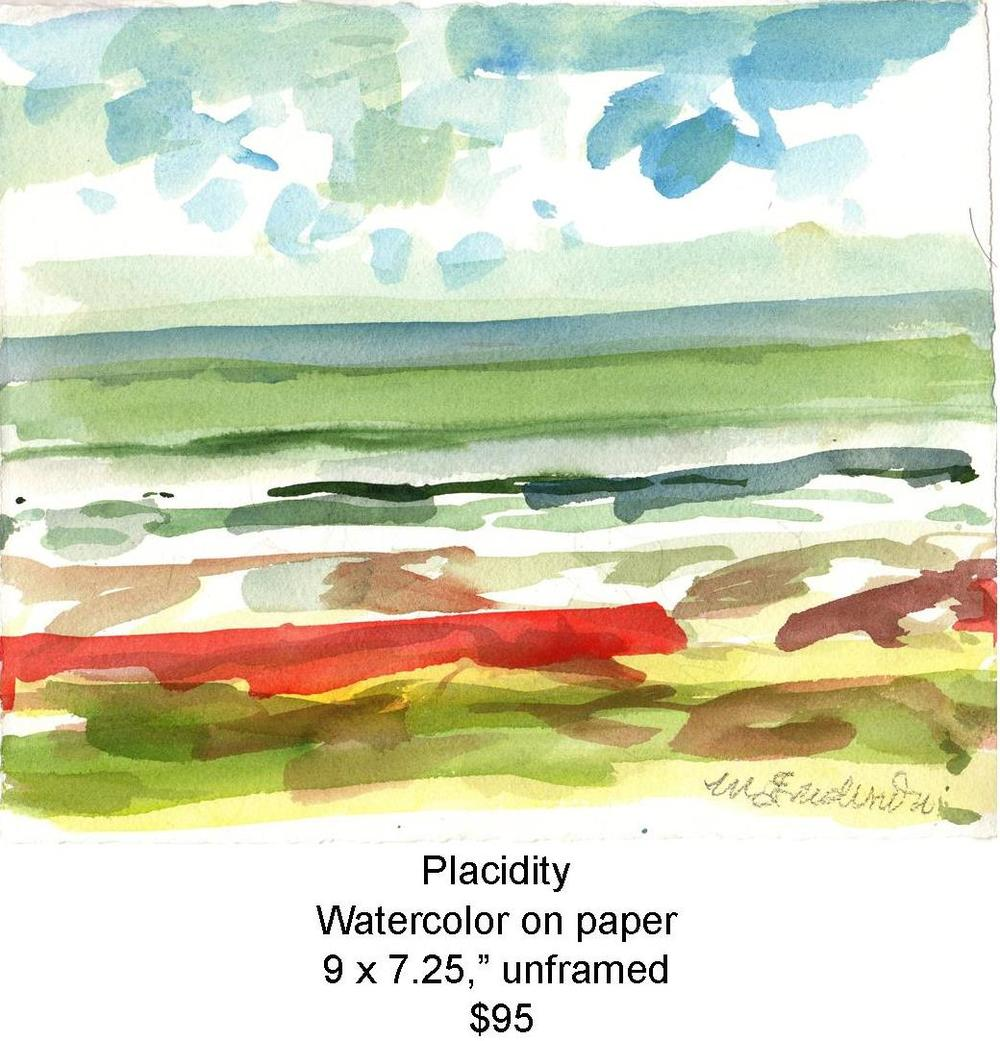 Fred Wise, Placidity. Watercolor, 9 x 7.25, 2010, web.jpg