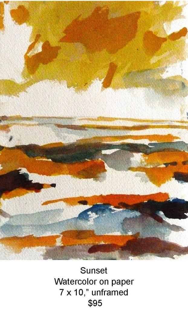 Fred Wise, Sunset. Watercolor, 7 x 10, 2009, sunset.jpg