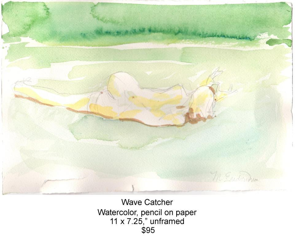 Fred Wise, Wave Catcher. Watercolor, pencil, 11 x 7.25, 2016, web.jpg