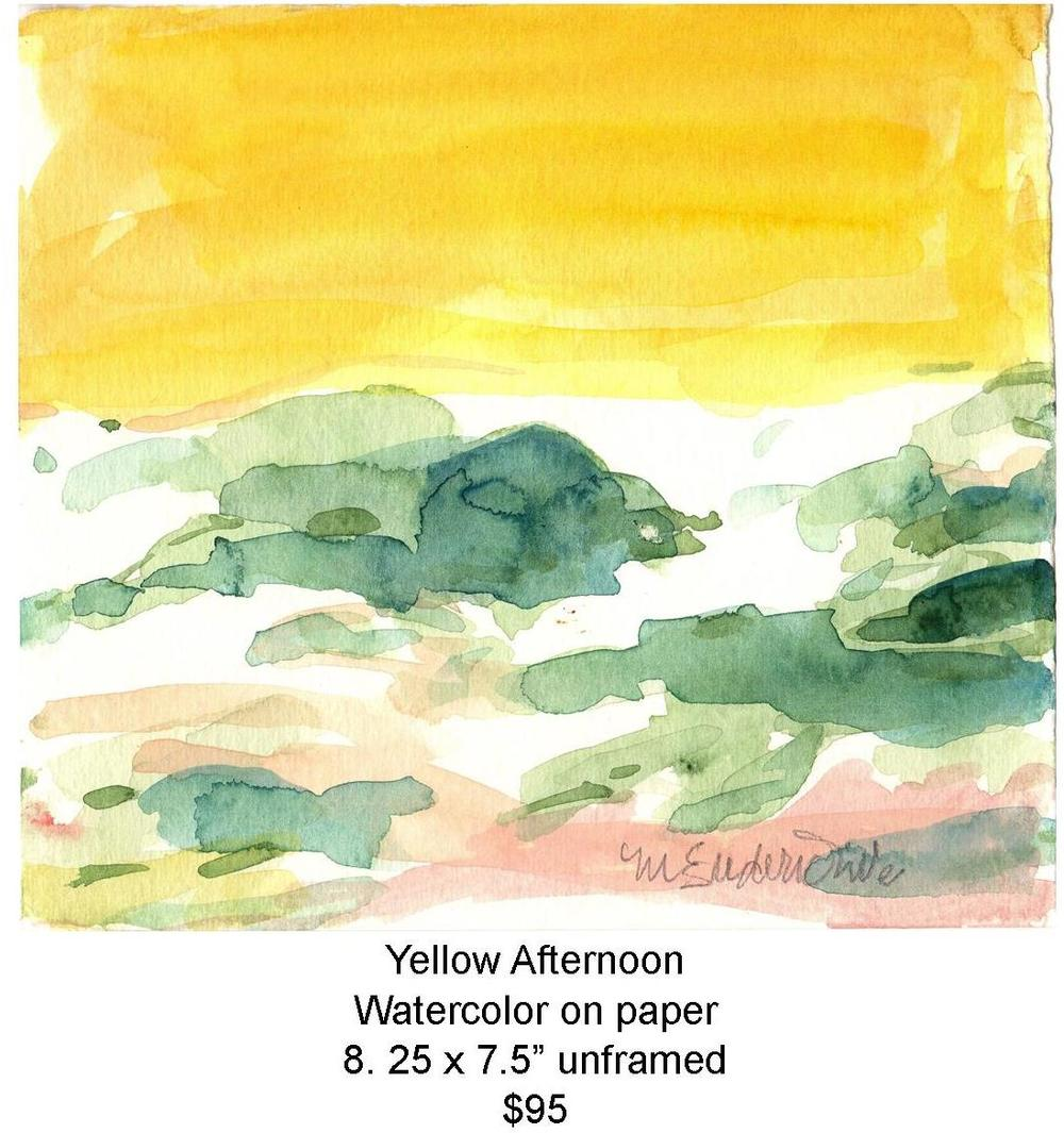 Fred Wise, Yellow Afternoon. Watercolor, 8.25 x 7.5, 2008, web.jpg