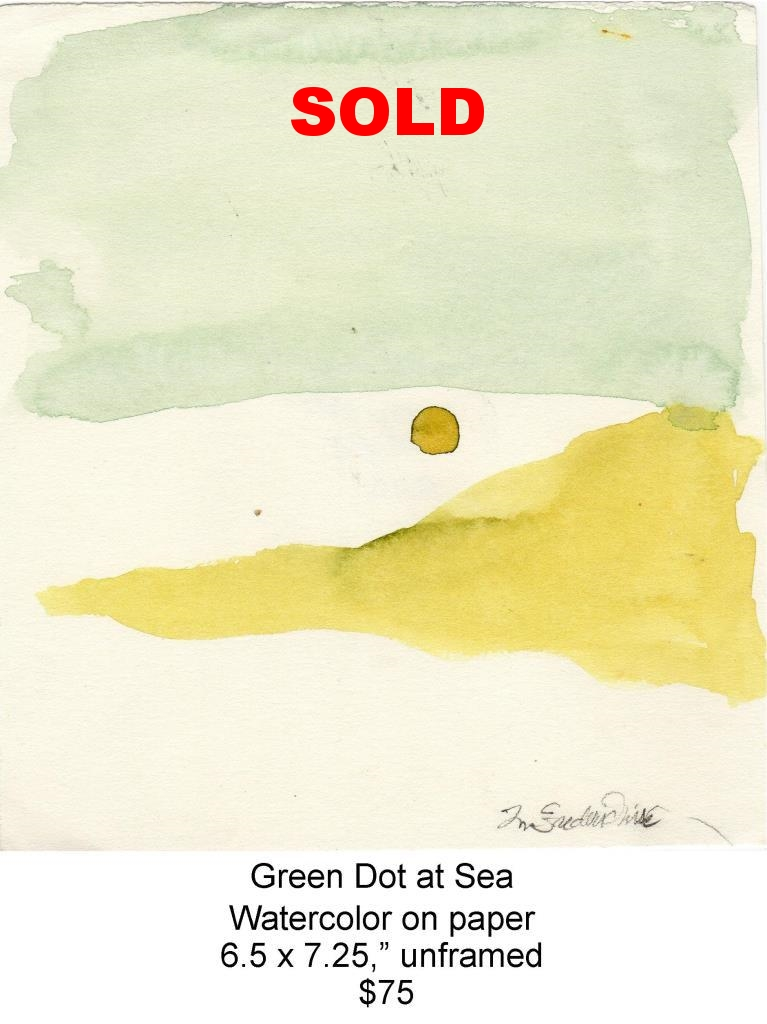 Fred Wise, Green Dot at Sea. Watercolor, 6.5 x 7.25, 2012, web.jpg