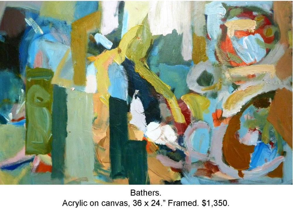 Fred Wise, Bathers Acrylic on Canvas 36 in x 24 in 2014 2016 04 19.JPG