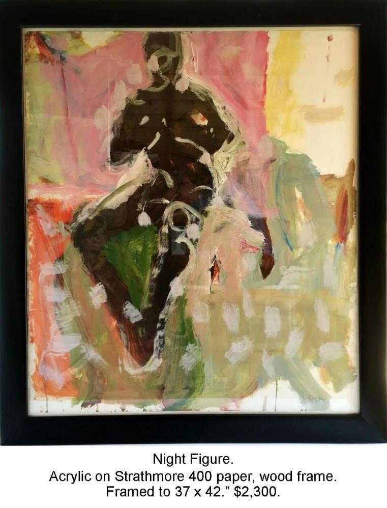 Fred Wise, Night Figure. Acrylic on paper, framed, gallery.jpg