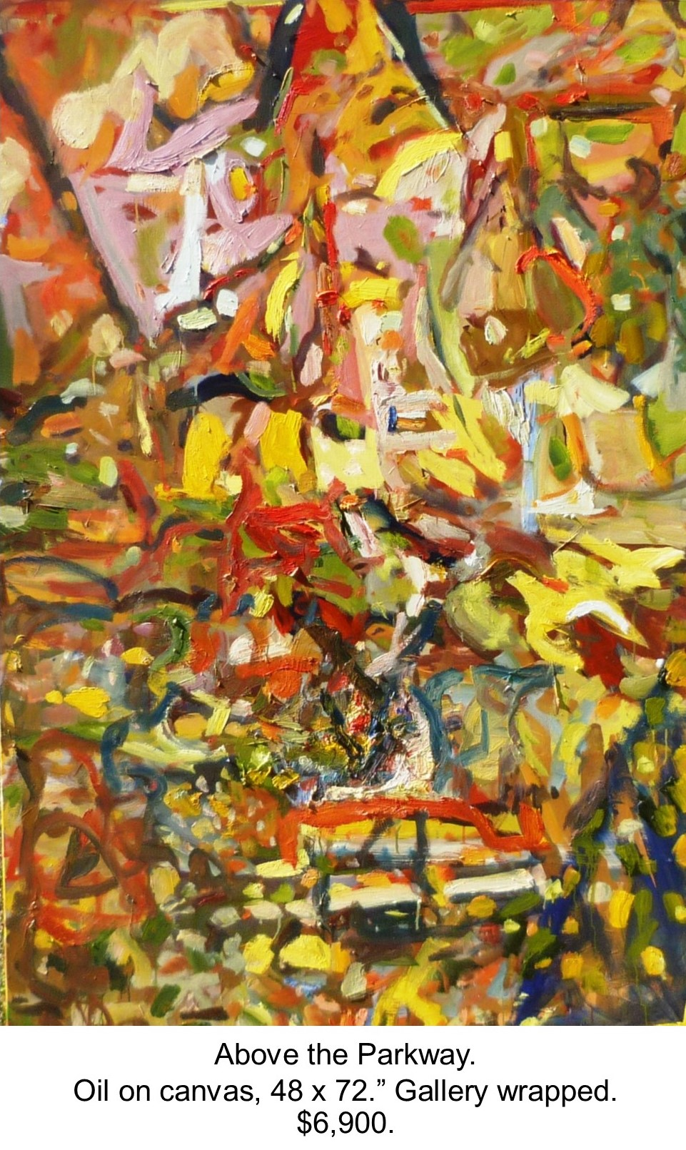 Fred Wise, Above the Parkway. Oil on canvas, 72 x 48, 2016, gallery.jpg