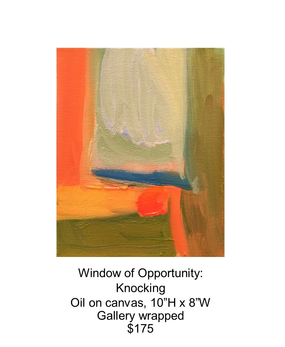 Fred Wise, Window of Opportunity - Knocking. Oil on canvas, 10 x 8, 2017..jpg