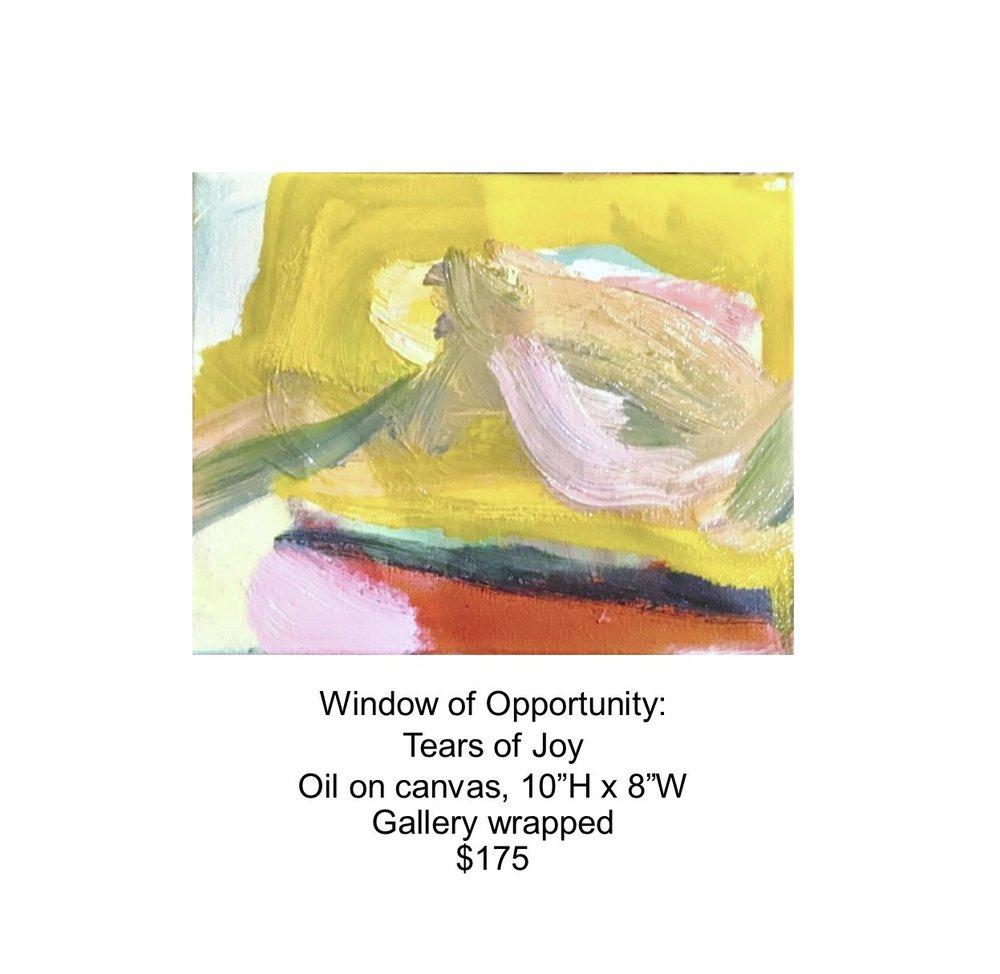 Fred Wise, Window of Opportunity - Tears of Joy. Oil on canvas, 8 x 10, 2017..jpg