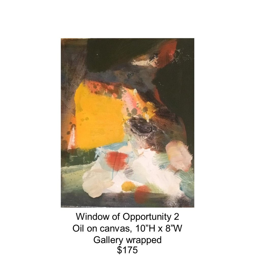 Fred Wise, Window of Opportunity 2. Oil on canvas, 10 x 8, 2017..jpg