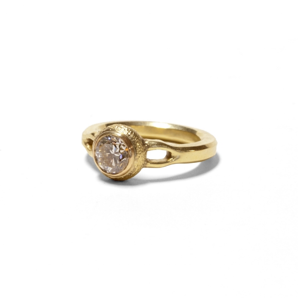 Diamond and 18K Gold Engagement Ring, 2013