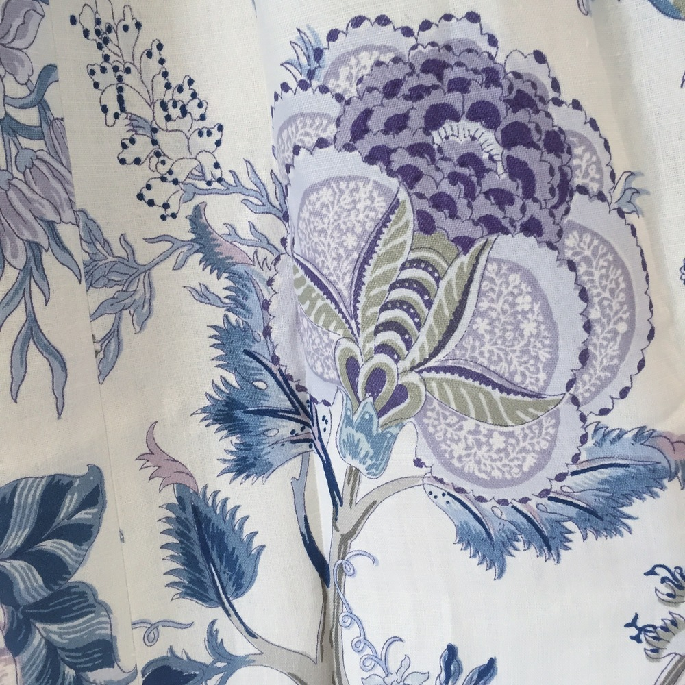 gorgeous schumacher fabric that we made into drapery
