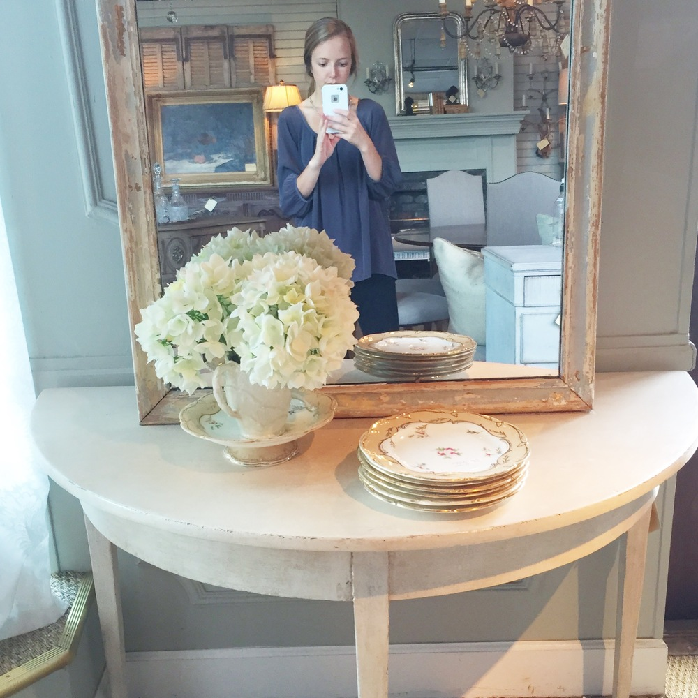 shopping day.. fell in love with the sweet, pretty colors in this vignette.