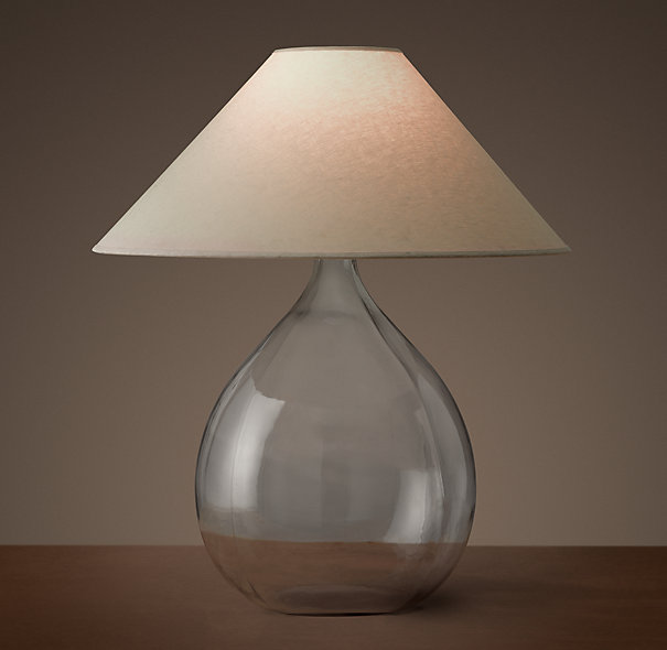 45. $425 i love glass lamps.. this shape can be a great fit when you need something with some hunky-ness
