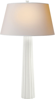 34. $399 a good basic lamp .. love the height and the plaster material