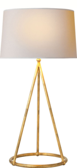 15. $231 i adore this lamp! it makes a big statement without being too bulky.. also love the gold!