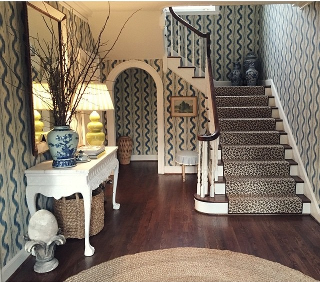 pierre-frey-toile-de-nantes-wallpaper-blue-white-leopard-stark-carpet-stair-runner-sisal.jpg