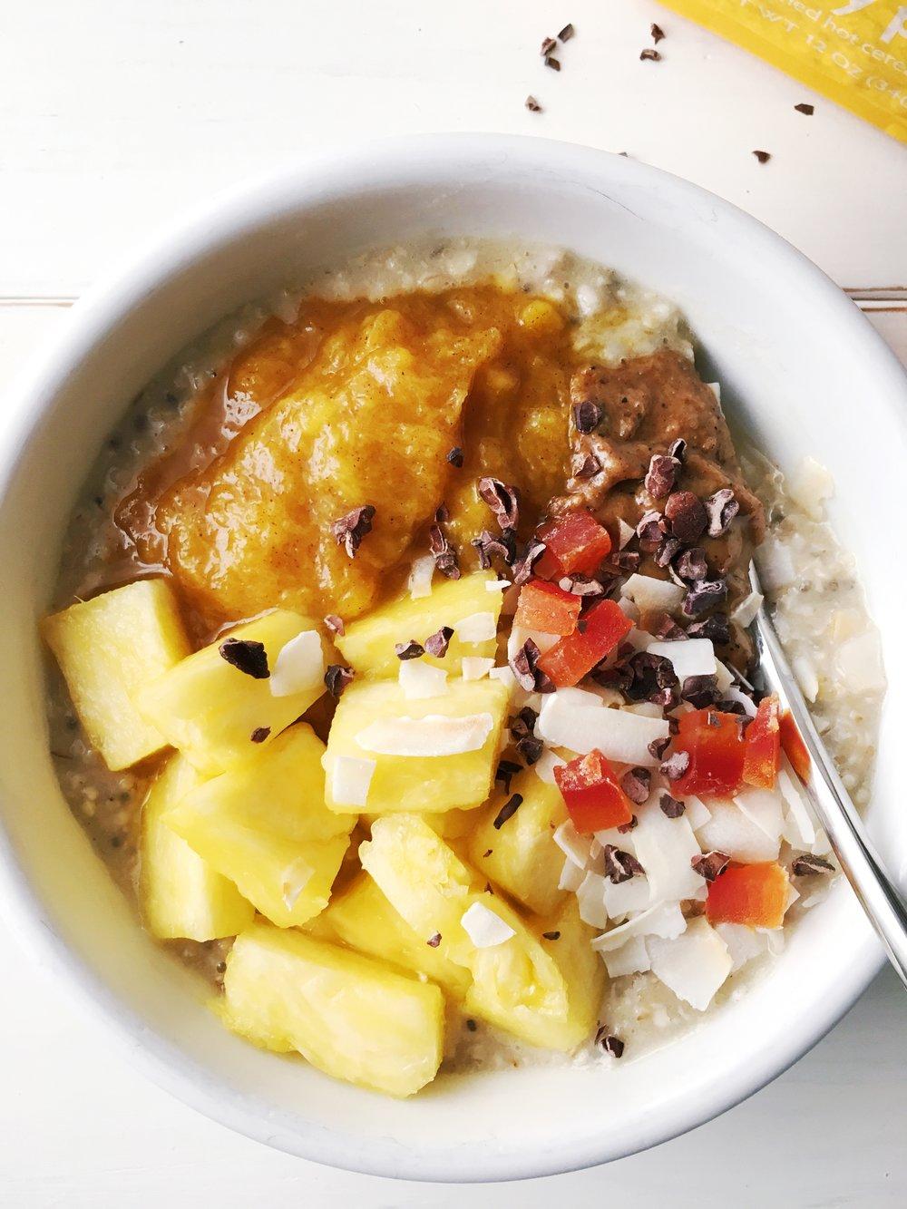 tropical oatmeal breakfast bown