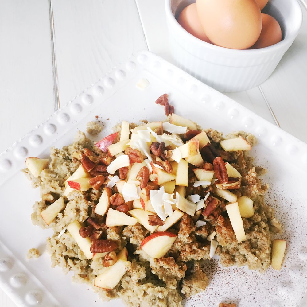 Apple Pecan Protein Scramble