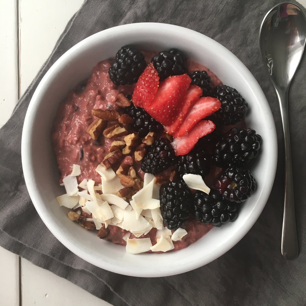 Berry and Nut Oatmeal by eNRG Performance