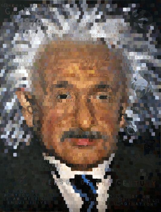 """Einstein's Table of Elements, 67"""" x 87"""""""