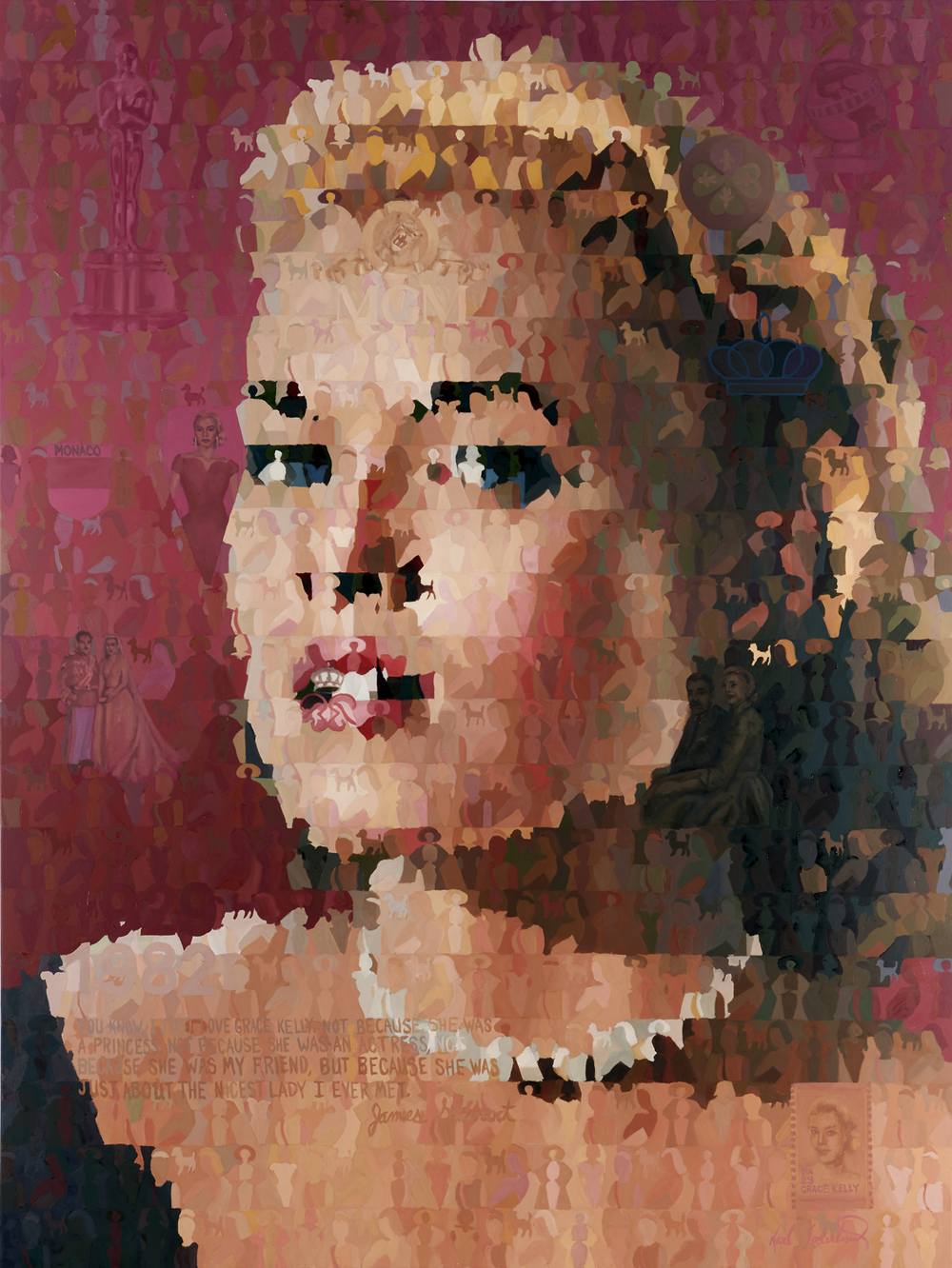 "Grace Kelly, 60"" x 80"""