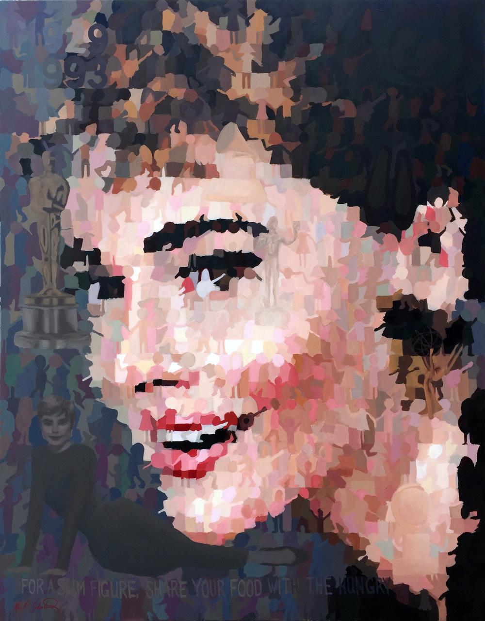 """Audrey, 44"""" x 56"""""""