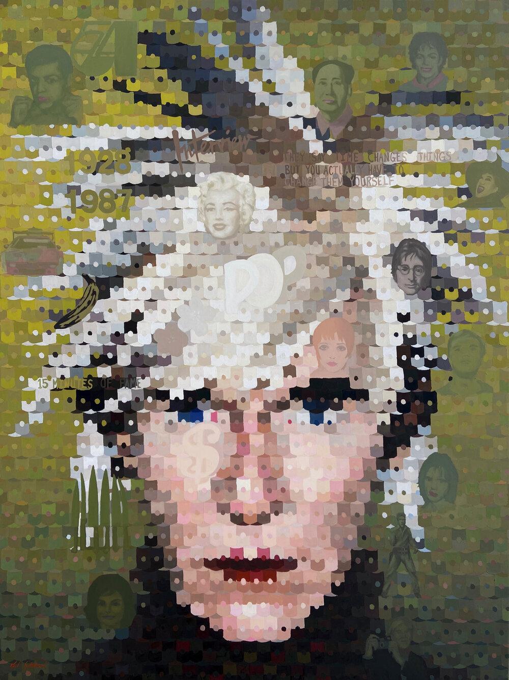 "Andy Warhol, 80"" x 60"""