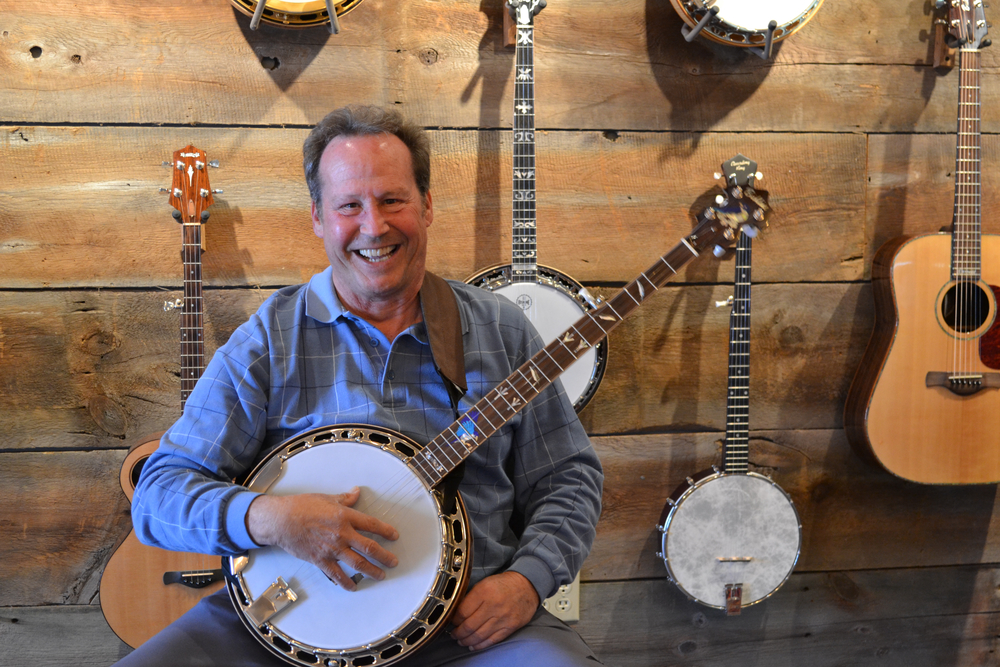 TERRY BRUNHOLTZ  BANJO   After studying banjo with Rob for several years and retiring from American Airlines, Terry is teaching beginning banjo. He's as love-able as he is talented!