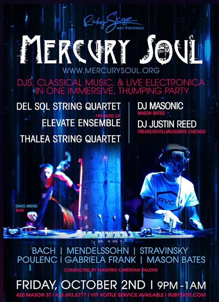 Mercury Soul with Thalea String Quartet at Ruby Skye