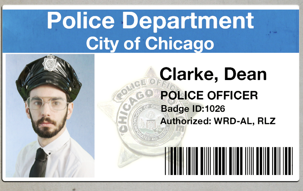 Officer Dean Clarke -- Resigned from Chicago Police Department to pursue a rap career.