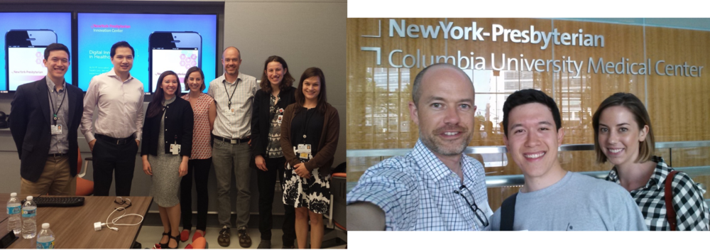 Visits to NYP-Cornell and NYP-Columbia