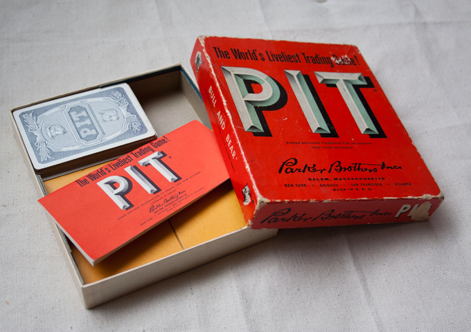 Pit is a card game based on agricultural stock trading.