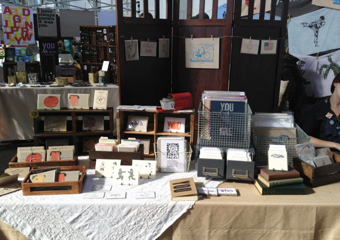 Our booth - lots of natural light in Fort Mason center!