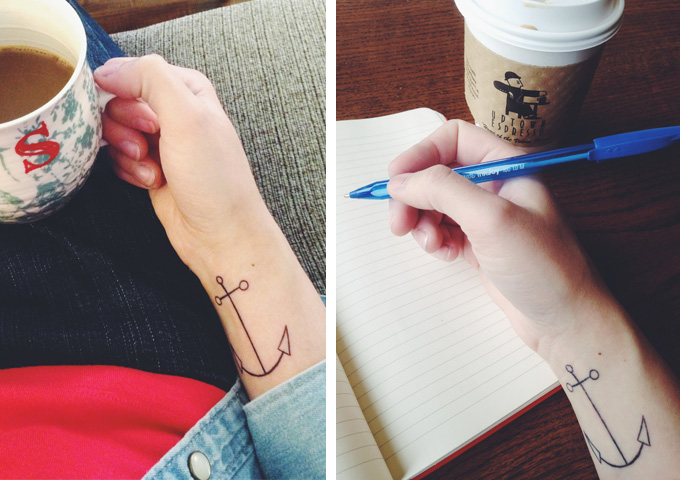 A new kind of ink in my life. (And apparently I'm always drinking coffee.)