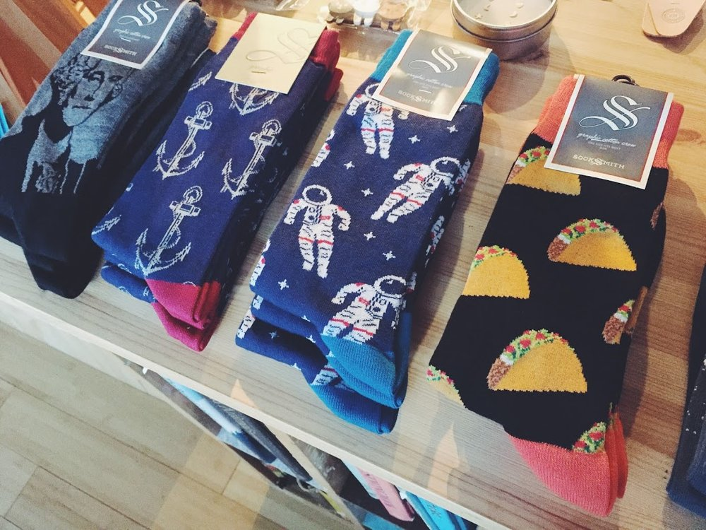 MARCH Our first order of socks for the shop! They've been a huge hit this year.