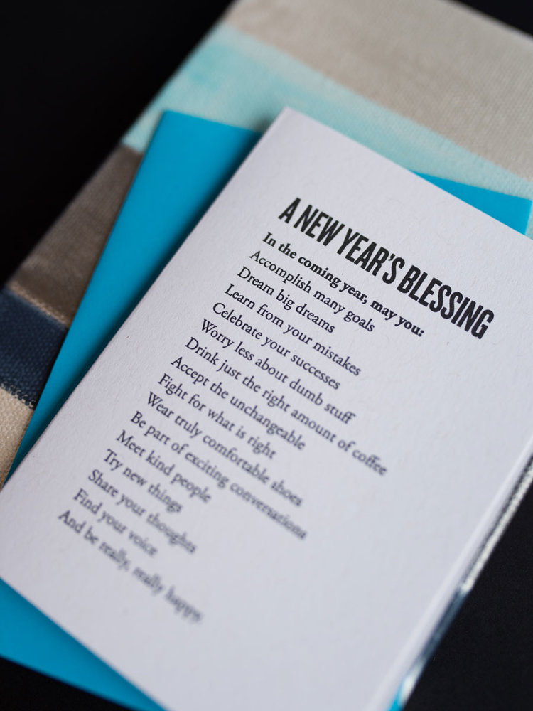"Our brand new ""New Year's Blessing"" card is available in the shop and online now!"