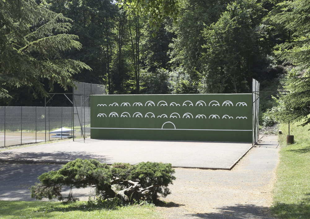 Marion Wintrebert artiste règles du jeu 24 possibles combinaisons formes mur tennis marquisats rebonds