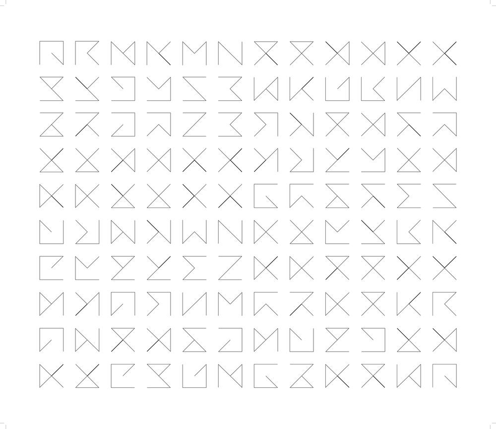 Marion Wintrebert artiste poster règles du jeu 120 possibles combinaisons formes