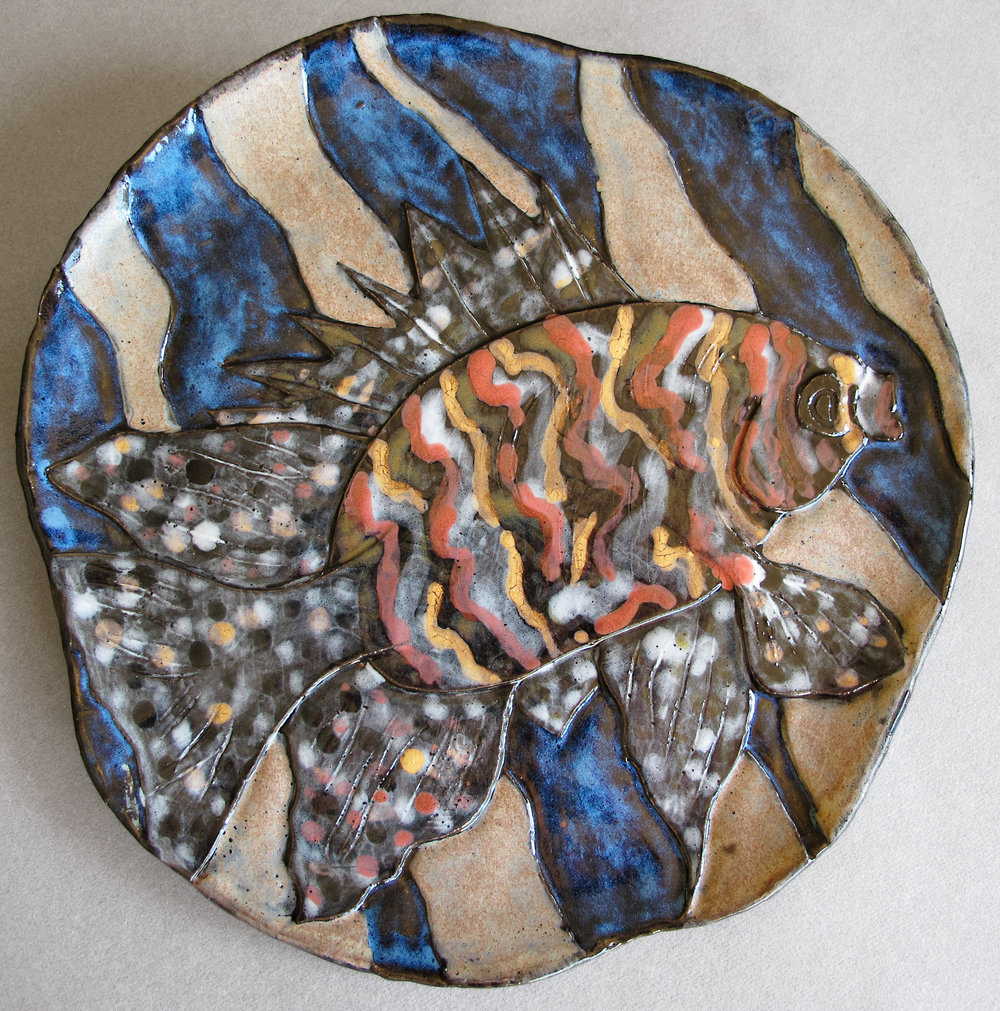 FISH WITH DOTS AND STRIPES
