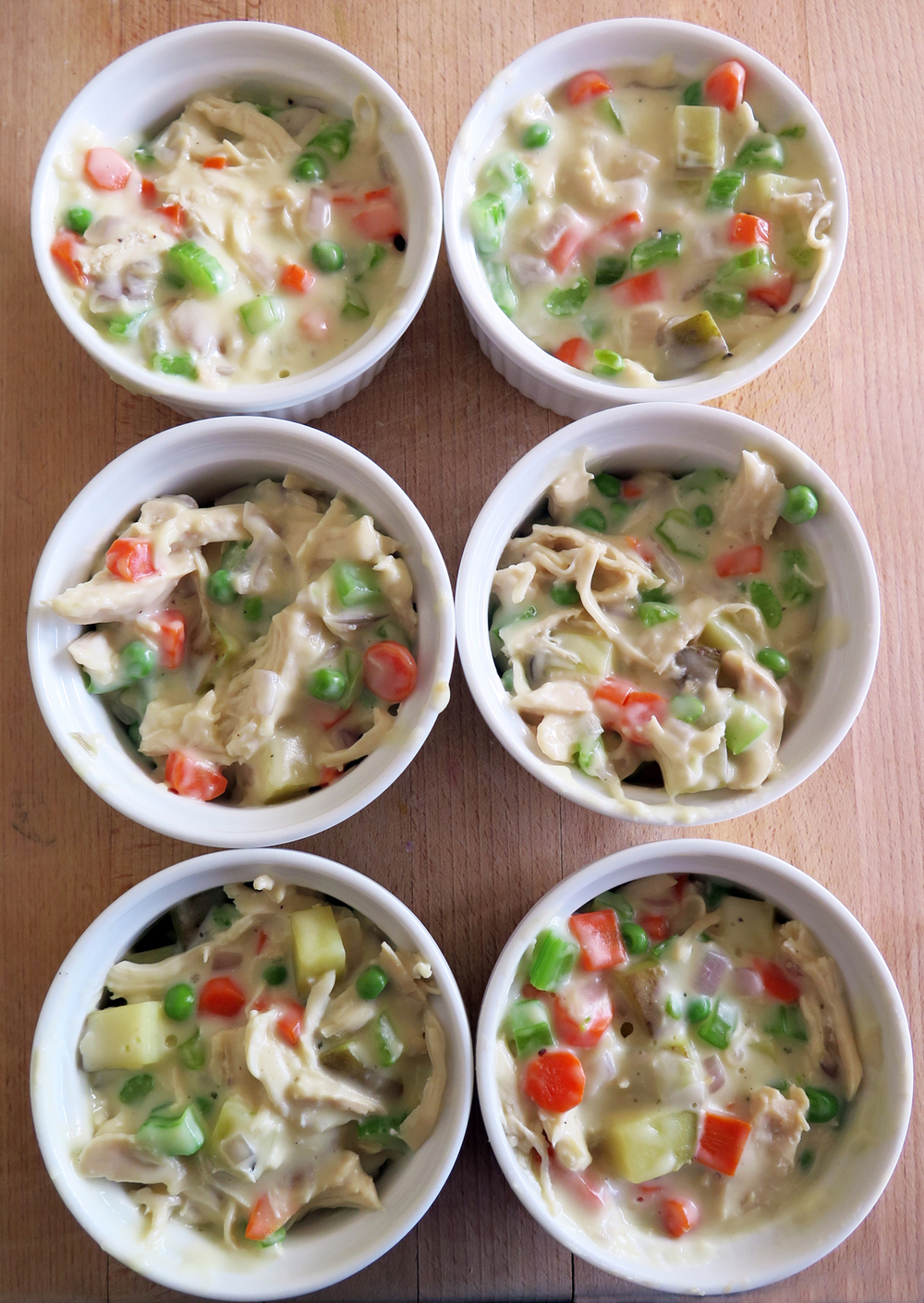 chicken pot pies with filling