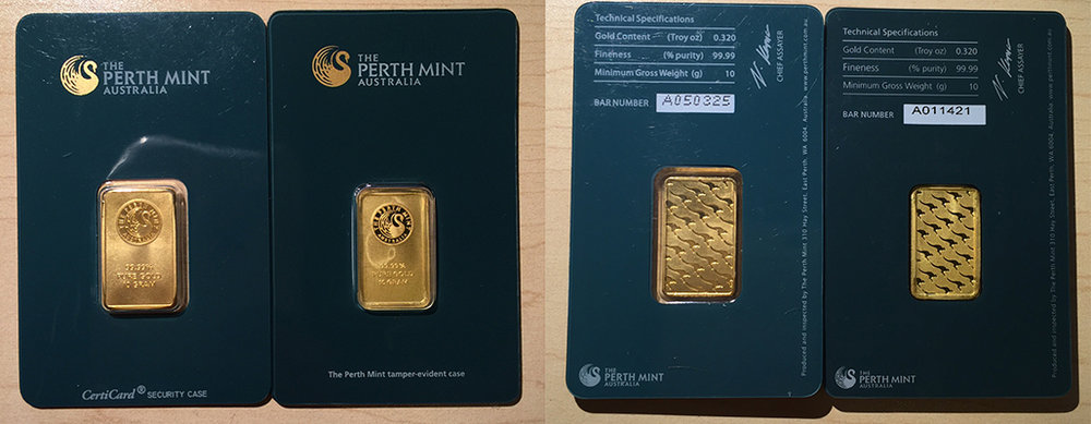 fake perth gold bar