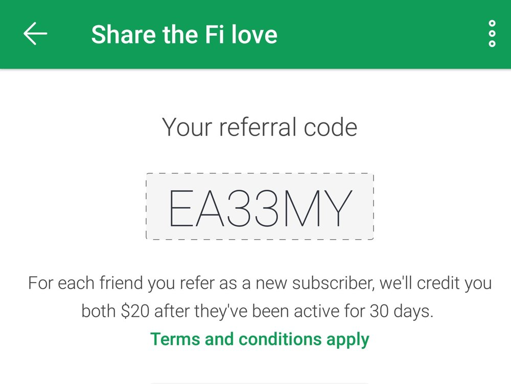 project fi referral code EA33MY