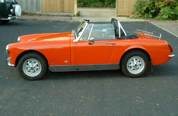 1974 MG Midget; 28,000 original miles. Mechanics of the car overhauled.   SOLD!