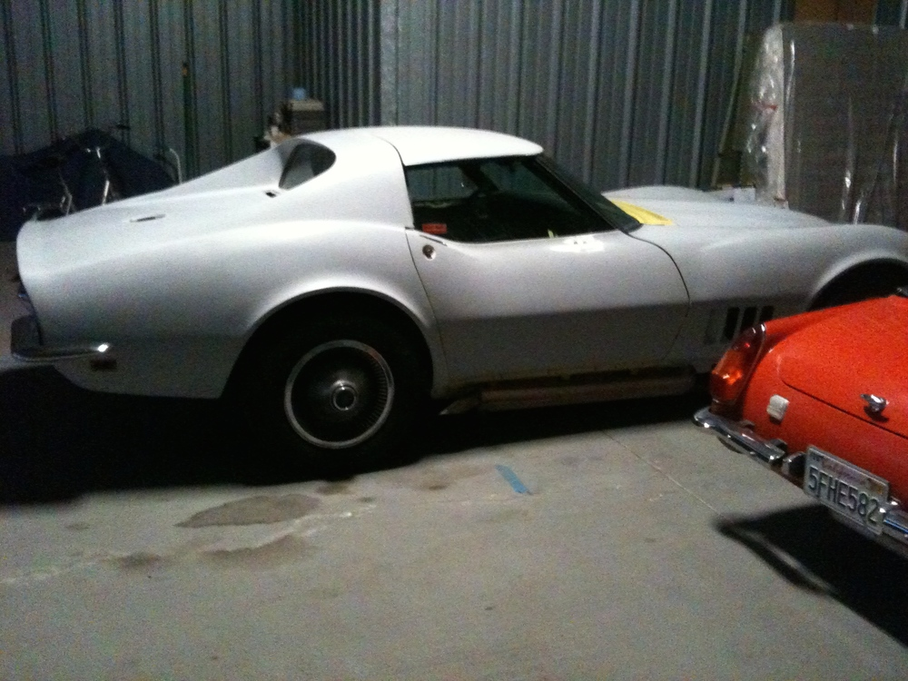 1968 Corvette for Sale;  89,900 miles.  Matching number car.  Available now.  $12,500.  SOLD!